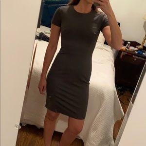 Gray structured wear to work dress